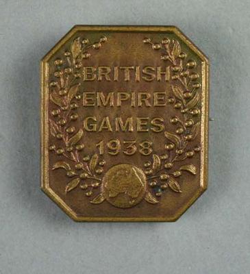 Commemorative badge, British Empire Games 1938