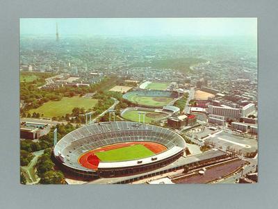 Postcard depicting 1964 Olympic Games stadium, Tokyo