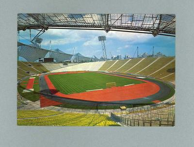 Postcard, depicts interior of 1972 Munich Olympic Games stadium