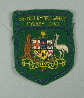Cloth badge, British Empire Games Sydney 1938