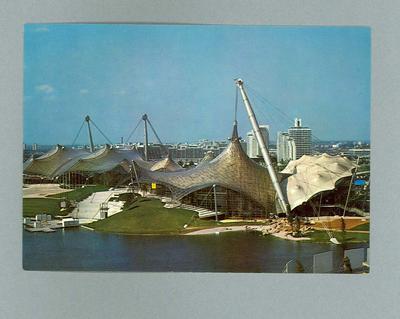Postcard, depicts Munich Olympic Park c1972