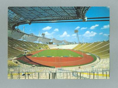 Postcard, depicts 1972 Olympic Games stadium interior