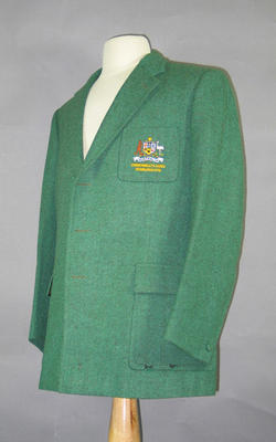 Australian team blazer for 1970 Commonwealth Games, worn by John Hare