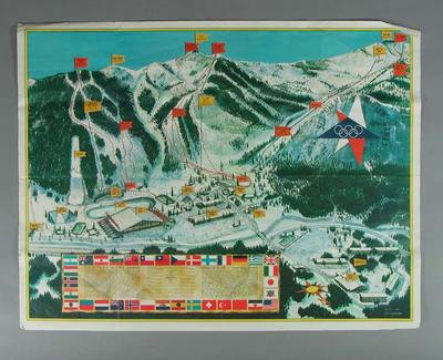 Poster, 1960 Winter Olympic Games Venues