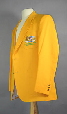 Australian Team blazer worn by Stan Golinski, 1986  Edinburgh Commonwealth Games