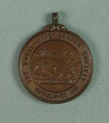 The Royal Life Saving Society bronze medallion, awarded to Frank Beaurepaire in 1910