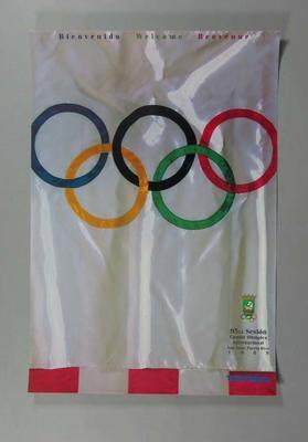 "Four posters, ""95TA Sesion Comite Olimpico Internacional"" San Juan 1989"