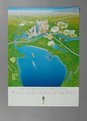 """Four posters, """"The 1996 Melbourne Olympics Guide"""""""