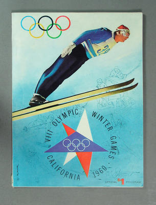 Programme, VIII Olympic Winter Games - California 1960; Documents and books; 1986.4.7