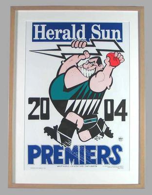 Poster -  Port Adelaide Premiers 2004 Grand Final, cartoonist WEG