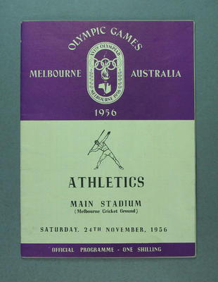 1956 Olympic Games Athletics Programme