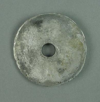 Large washer, part of large bell-shaped aluminium speaker, Harry Johns Boxing Troupe