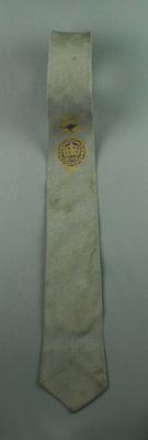 Silver grey tie - British Empire & Commonwealth Games logo - Perth 1962