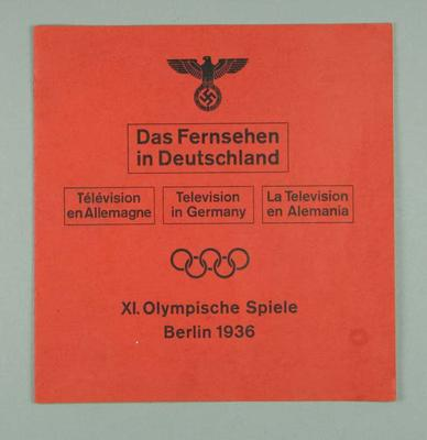"""Booklet, """"Television in Germany"""""""