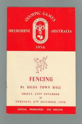 1956 Olympic Games fencing programme, 23 November-6 December 1956
