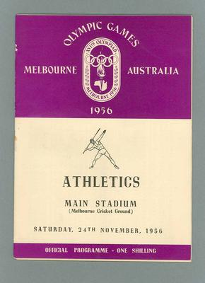 1956 Olympic Games athletics programme, 24 November 1956