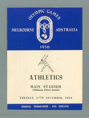 1956 Olympic Games athletics programme, 27 November 1956