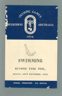 1956 Olympic Games swimming programme, 30 November 1956