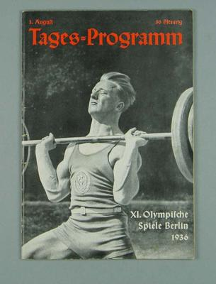 1936 Olympic Games programme