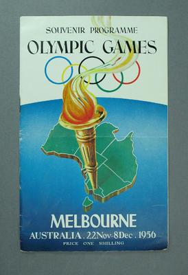 Souvenir Programme; Olympic Games Melbourne 22 November-8 December 1956