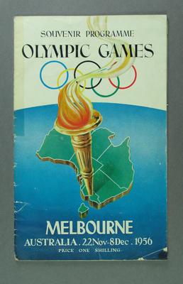Programme - Souvenir Programme of Events  Melbourne 1956 Olympic Games