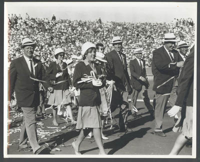 Photograph of Australian team at closing ceremony, 1962 British Empire & Commonwealth Games