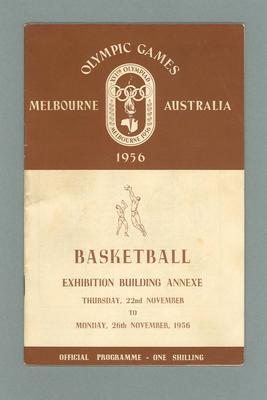 Programme, 1956 Olympic Games Basketball 22-26 Nov