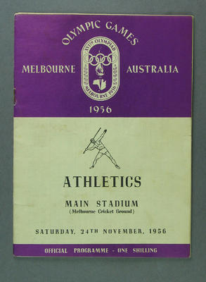 Programme for 1956 Olympic Games Athletics events, 24 November 1956