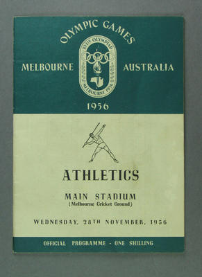 Programme for 1956 Olympic Games Athletics events, 28 November 1956