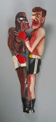"""Sculpture, """"Title Fight"""" by Timothy James Webb"""
