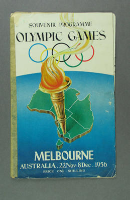 Programme, 1956 Olympic Games