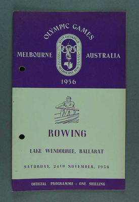 Programme for 1956 Olympic Games rowing events, 24 November