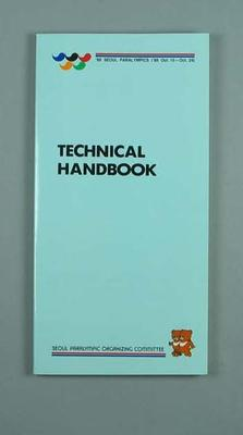 Book, 1988 Seoul Paralympic Games Technical handbook