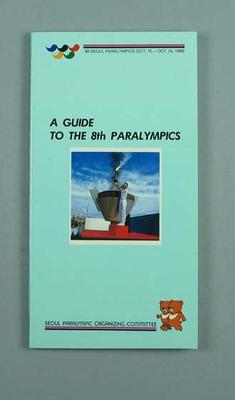 Book, ''A Guide to the 8th Paralympics''