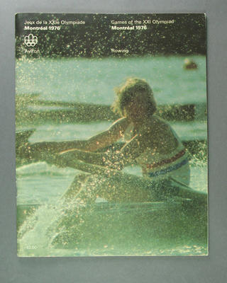 Programme for 1976 Olympic Games rowing events