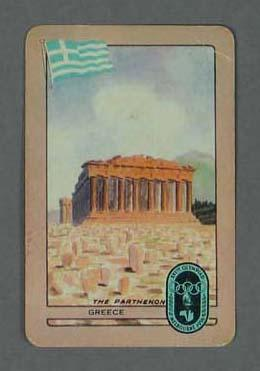 1956 Melbourne Olympic Games Swap Card - Greece