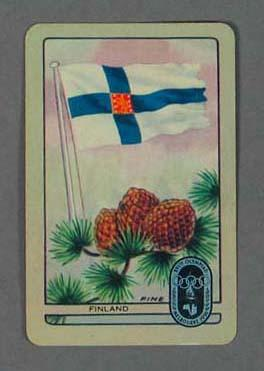 1956 Melbourne Olympic Games Swap Card - Finland; Documents and books; 1987.1613.4