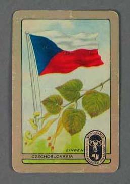 1956 Melbourne Olympic Games Swap Card - Czechoslovakia