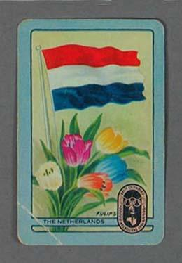 1956 Melbourne Olympic Games Swap Card - The Netherlands