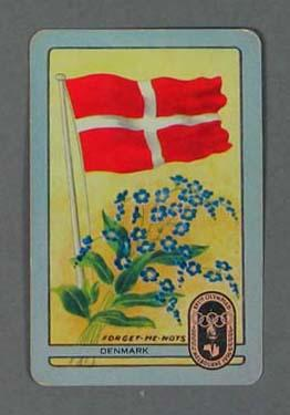 1956 Melbourne Olympic Games Swap Card - Denmark; Documents and books; 1987.1613.8