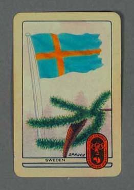 1956 Melbourne Olympic Games Swap Card - Sweden