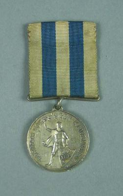 Silver medal presented by IFK, won by Frank Beaurepaire c1910-20