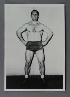 Photograph of a wrestler, c1930s
