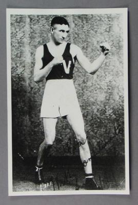 Photograph of boxer J Owens, c1930s