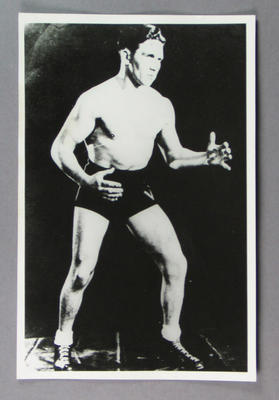 Photograph of wrestler The Mad Arab, c1930s