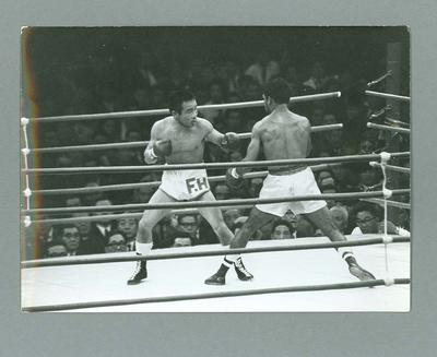 Photograph of Lionel Rose v Fighting Harada fight in Tokyo, 27 Feb 1968