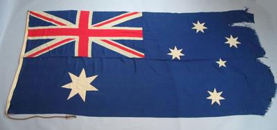 Australian flag, flown at MCG during 1956 Olympic Games