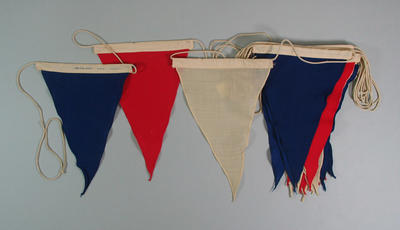 Pennants on rope, in Heidelberg City Council box