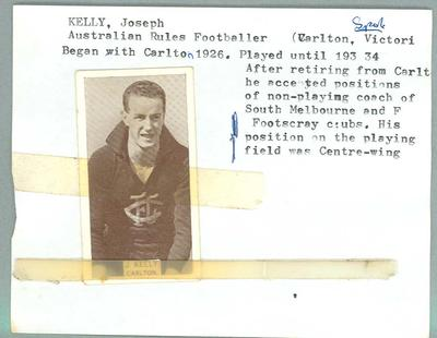 Trade card featuring Joseph Kelly, Wills Cigarettes c1930s
