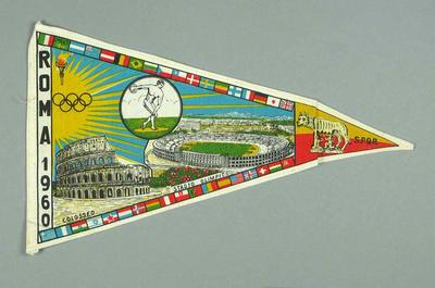 Pennant commemorating 1960 Olympic Games